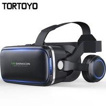 Shinecon VR 4.0 3D виртуальной реальности Очки крепления головы шлем VR коробка с Hi-Fi наушники гарнитуры для 4.5-6.0 дюймов телефон игры видео