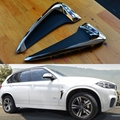 2 Pcs ABS Car Front Fender Decoration Side Air Vent Nozzle Stickers Car-styling Covers For 2014-15 BMW X5 Acessories