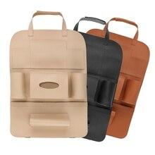 Multi-functional PU Leather Car Back Seat Storage Bag Phone Cup Tissue Holder Organizer KVM-3 ocean pattern multi functional phone holder