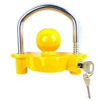 universal Anti Theft Lock Hitch Coupling Lock Trailer Parts Tow Ball Caravan Camping Anti Theft Trailer Accessories