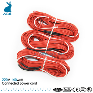 F24K 20meters 140w 17ohm Carbon fiber heating wire PTFE Teflon connected Power cord heating wire Heating cable