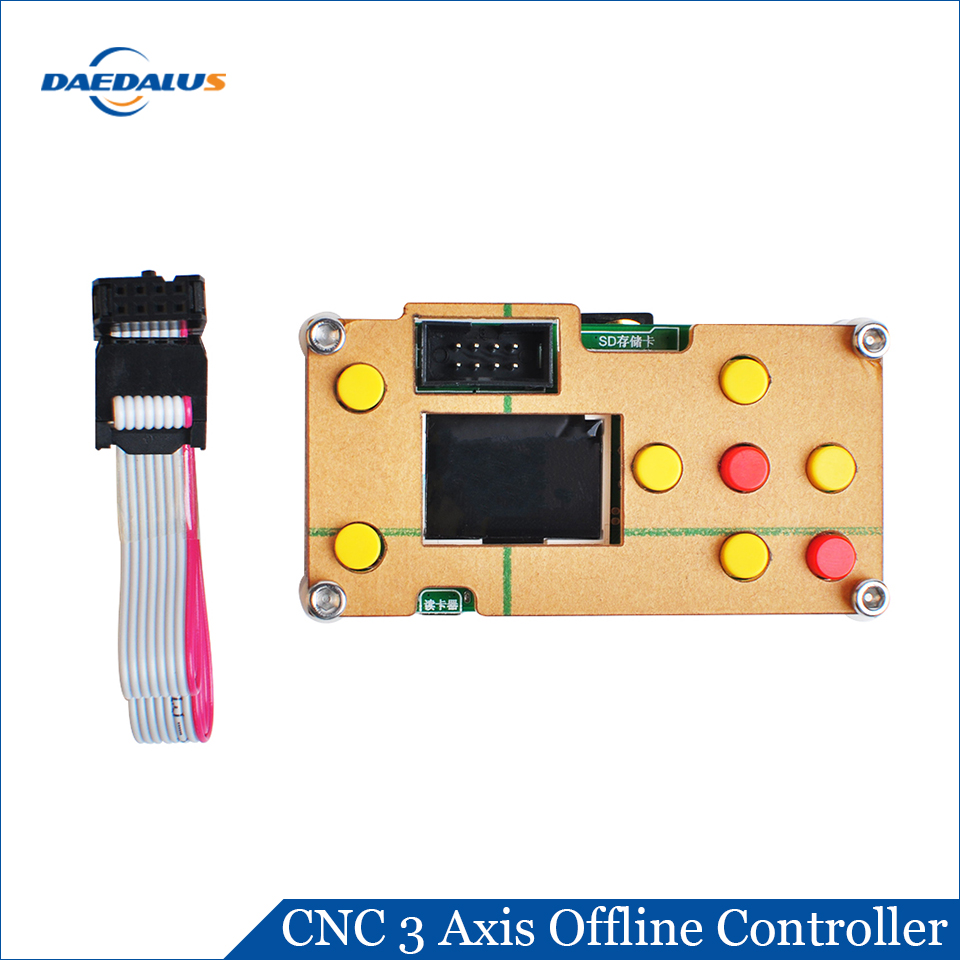 Daedalus GRBL 3 Axis Offline Controller Board CNC Controller Screen Board For PRO 1610 2418 3018