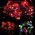 BZ241 3 М 30LED Рождество Свадьба Украшение Света Строки Медной Проволоки Струнные Светильники CR2032 Батареи СВЕТОДИОДНЫЕ Гирлянды