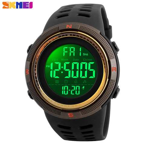 SKMEI Waterproof Mens Watches New Fashion Casual LED Digital Outdoor Sports Watch Men Multifunction Student Wrist watches Islamabad