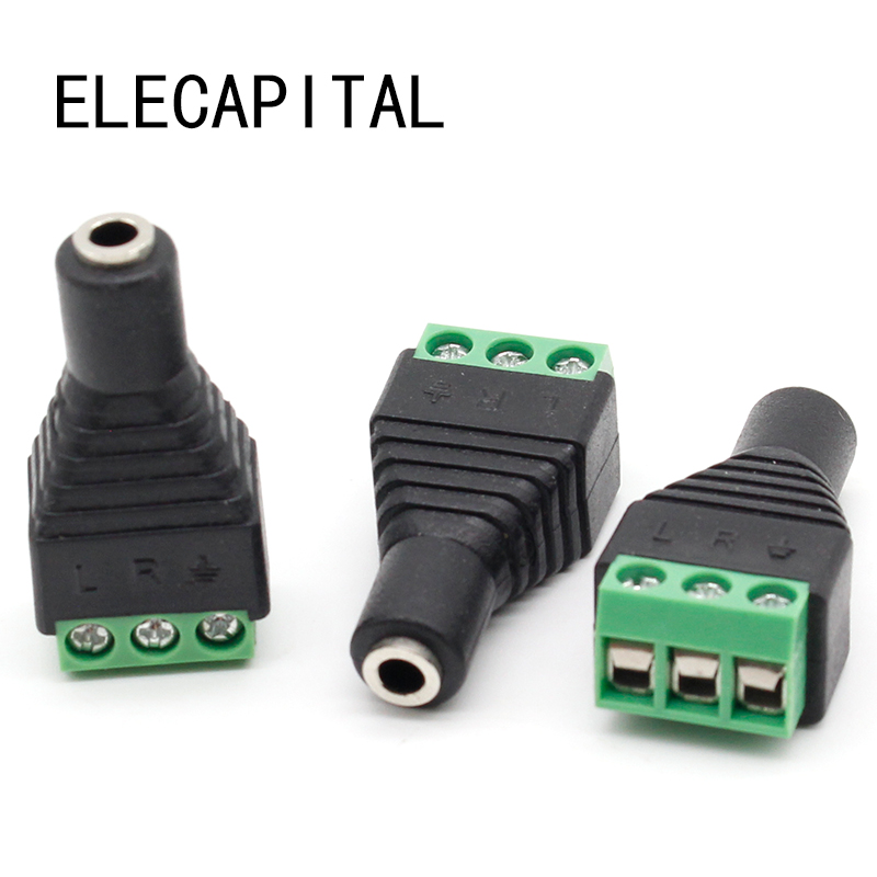 3pcs Connector Jack 3.5mm Video AV Balun 3.5mm stereo female to AV Screw Terminal Stereo jack 3.5 mm female 3 pin Terminal Block сахарница taller линда tr 1120