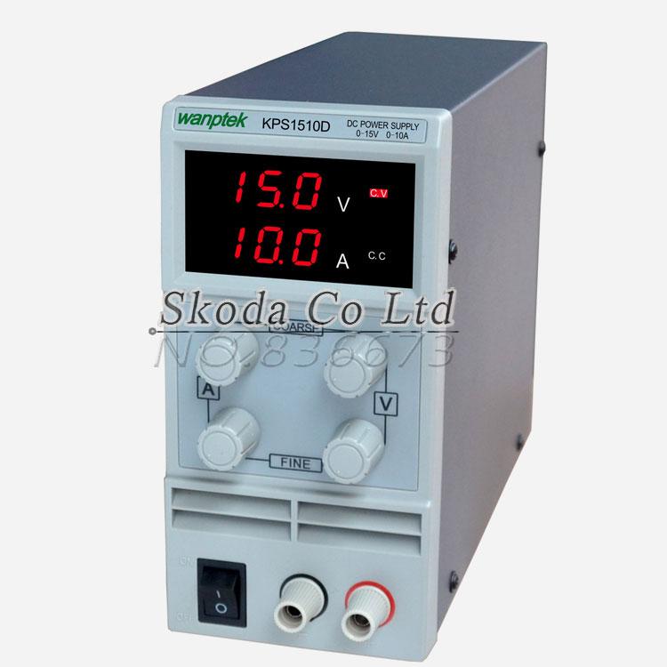 KPS1510D 15V 10A digital adjustable Mini DC Power Supply Switch DC power supply 110/220V 0.1V 0.01A EU rps3020d 2 digital dc power adjustable power 30v 20a power supply linear power notebook maintenance
