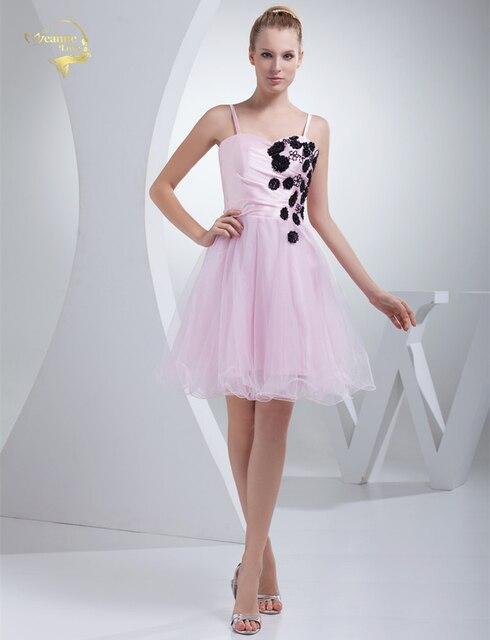 New Arrival Tulle Fabric Beading Handwork Short Homecoming Dresses Party Evening Elegant HM09923 Vestidos De Festa Graduation