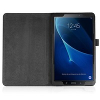 screen film Multi Angle for View and Folding Stand Leather Case Cover for Samsung Galaxy Tab A 10.1 SM-T580 / SM-T585 +Stylus + Screen Film (3)