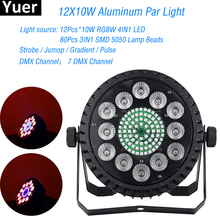 NEW Design LED Par Light 12x10W RGBW 4IN1 Par Can DMX512 Remote Par Light For DJ Disco Home Party DMX Stage Lightimg Indoor