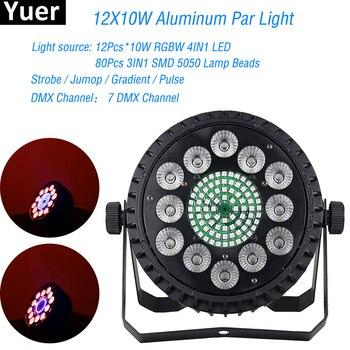 цены NEW Design LED Par Light 12x10W RGBW 4IN1 Par Can DMX512 Remote Par Light For DJ Disco Home Party DMX Stage Lightimg Indoor