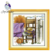 цена на Joy Sunday,Chair and hat,cross stitch embroidery set,printing cloth embroidery kit,needlework,cross stitch embroidery pattern