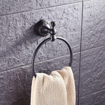 Античное бронзовое кольцо для полотенец черного цвета, винтажные латунные кольца для полотенец для ванной комнаты, Медные Кухонные кольца ...