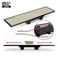 Universal Broadway 300mm Wide Flat Interior Clip On Car Truck Rear View Mirror