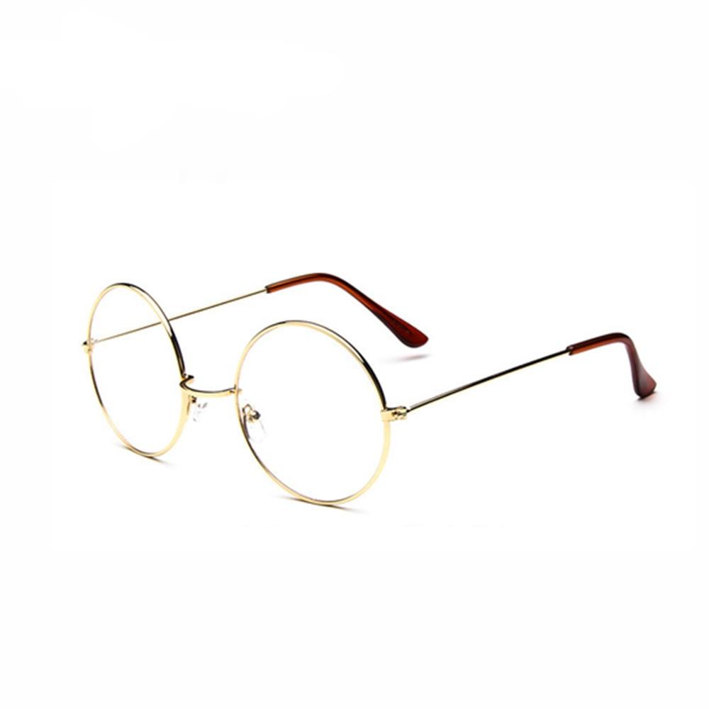 ed176fc7d96 New Fashion wizard 100% pure Titanium Eyeglasses Frames Men women round  Eyeglasses Gold Glasses Frames 5 Color 032