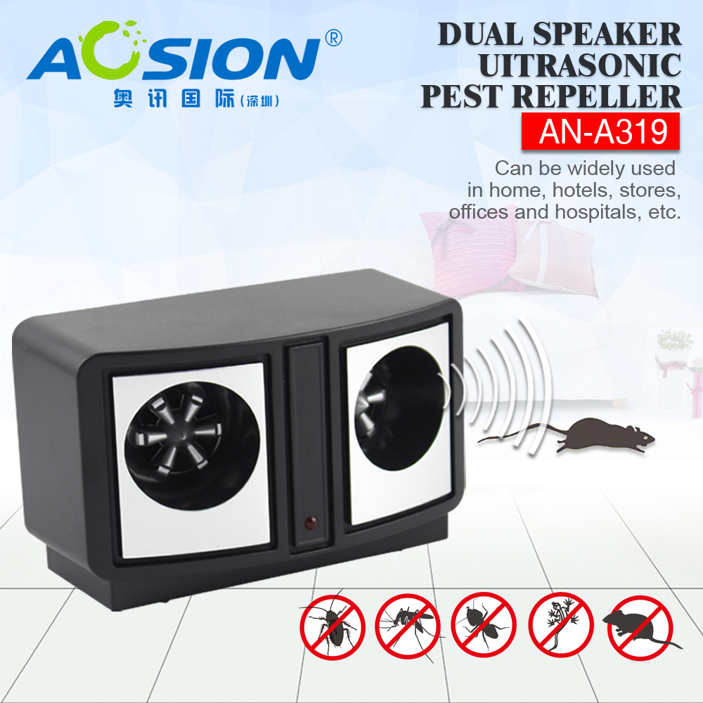Aosion AN-A319 indoor sweep frequency ultrasonic mouse repeller Electronic rodent <font><b>pest</b></font> mice insect repellent control <font><b>pest</b></font> reject