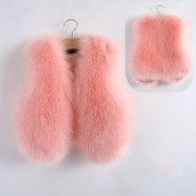 2018 Baby Autumn Winter Vest Waistcoat Children's Fur Vest Boys Girls Imitation Fur Coat Kids Faux Fur Fabric Clothes Fur Vest