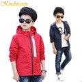 Kindstraum 2017 nova roupa das crianças esportes dos miúdos meninos jaqueta corta-vento impermeável com capuz casuais outwear & casacos de primavera, MC430