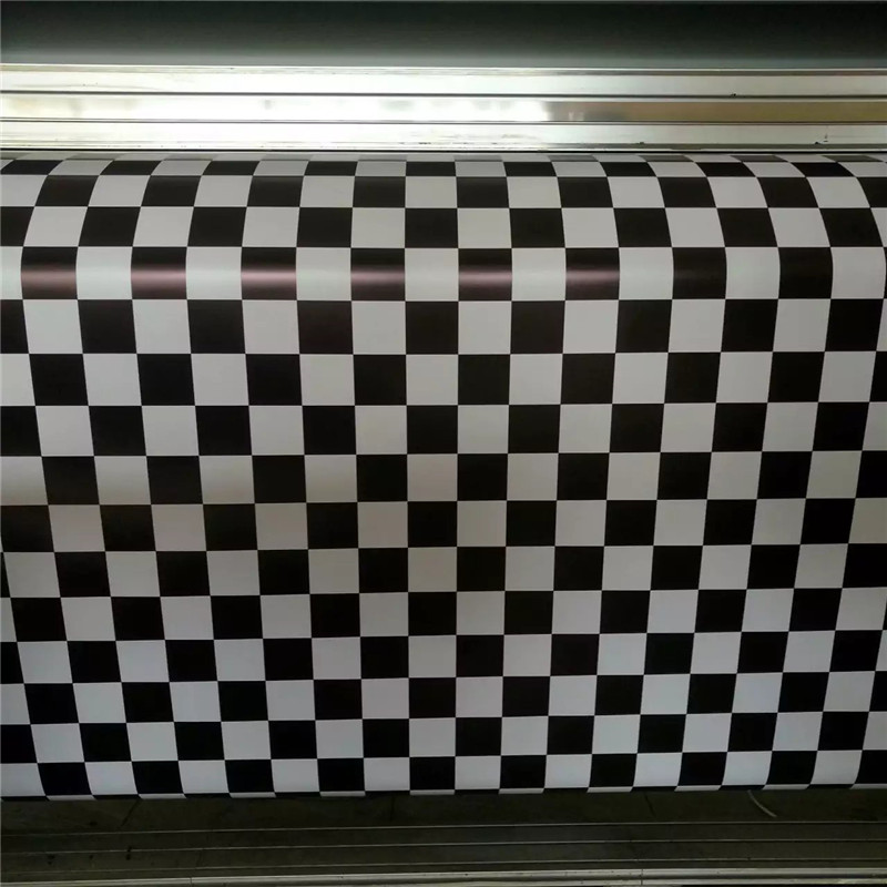 black white Checker Racing Camouflage Camo Vinyl Film For SUV  5/10/15/20/25/30M/Roll wholesale retail Bubble free Non degum