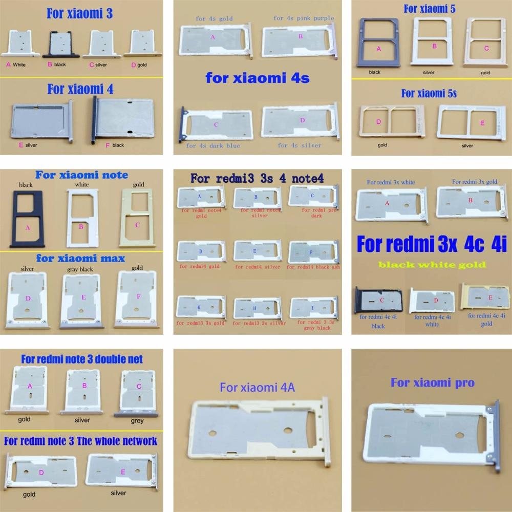 Micro Nano SIM Card Holder Tray Slot for xiaomi redmi 3 3s 4 4s 5 5s 4A 4I 4Cnote3 note4 max SIM Card Card Holder Adapter Socket