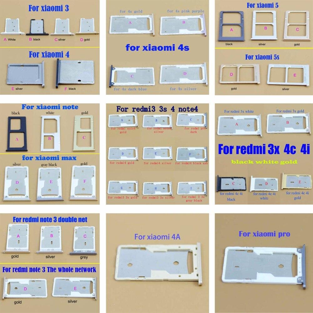 Micro Nano SIM porte-carte plateau fente pour xiaomi redmi 3 3 s 4 4 s 5 5 s 4A 4I 4Cnote3 note4 max SIM carte adaptateur porte-carte