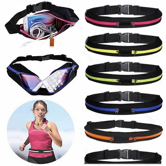 New Outdoor Running Waist Bag Waterproof Mobile Phone Holder Jogging Belt Belly Bag Women Gym Fitness Bag Lady Sport Accessories 2