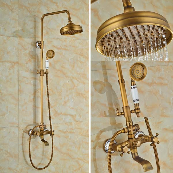 Aliexpress.com : Buy Luxury Dual Handles Rainfall European Shower ...