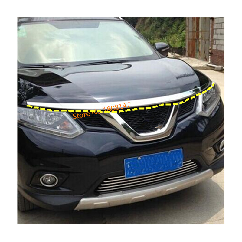Front Grille Around Trim for 2014-2016 Nissan X-Trail Rogue Full Set NEW 3PCS