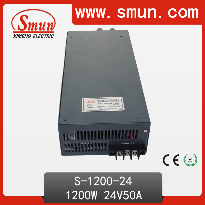 1200W 24V 50A Single Output High Efficiency AC/DC Switching Power Supply For LED And Industrial Control Transformer System 1200w 48v adjustable 220v input single output switching power supply for led strip light ac to dc