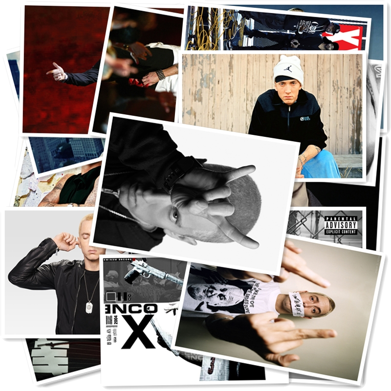 B1-10#  Eminem  Classic Series Sticker 20/pcs PVC Sticker Travel Suitcase Bike Phone Sliding Plate  Graffiti Styling