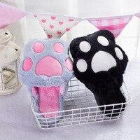 Cotton slippers women winter cartoon home anti slip indoor thick plush cat claw moon Mao Mao slippers