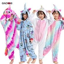 fe5c523237 Kigurumi Pyjamas Einhorn Onesie Kinder Licorne Panda Overall Winter  Overalls Baby Mädchen Kleidung Pyjamas Jungen Nachtwäsche