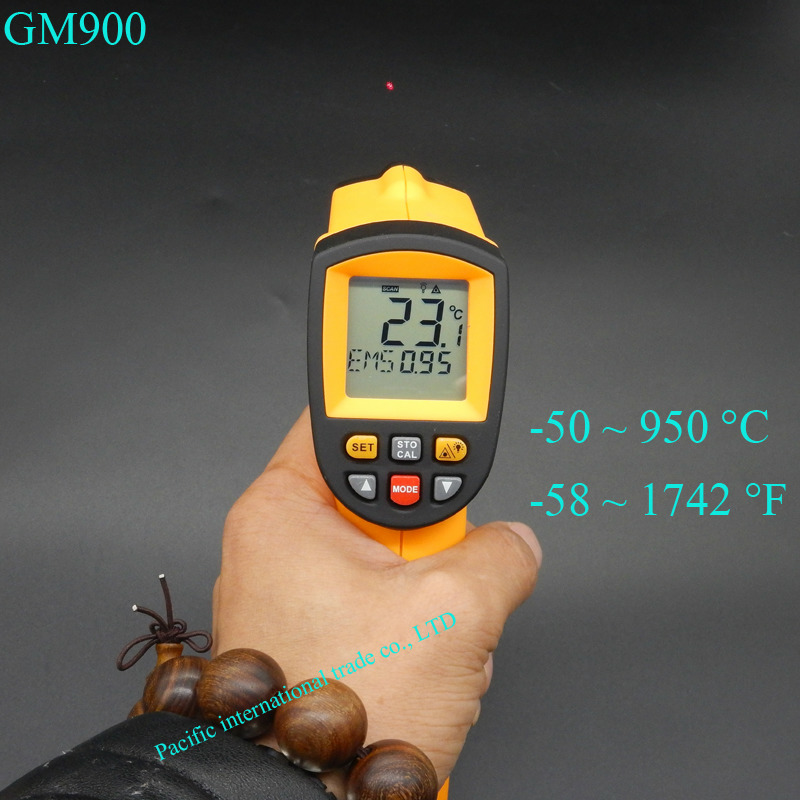 ФОТО IR Infrared Thermometer GM900 Digital Temperature Meter -50~950C  Pyrometer 0.1~1EM Celsius  with Non-Contact LCD Termometre