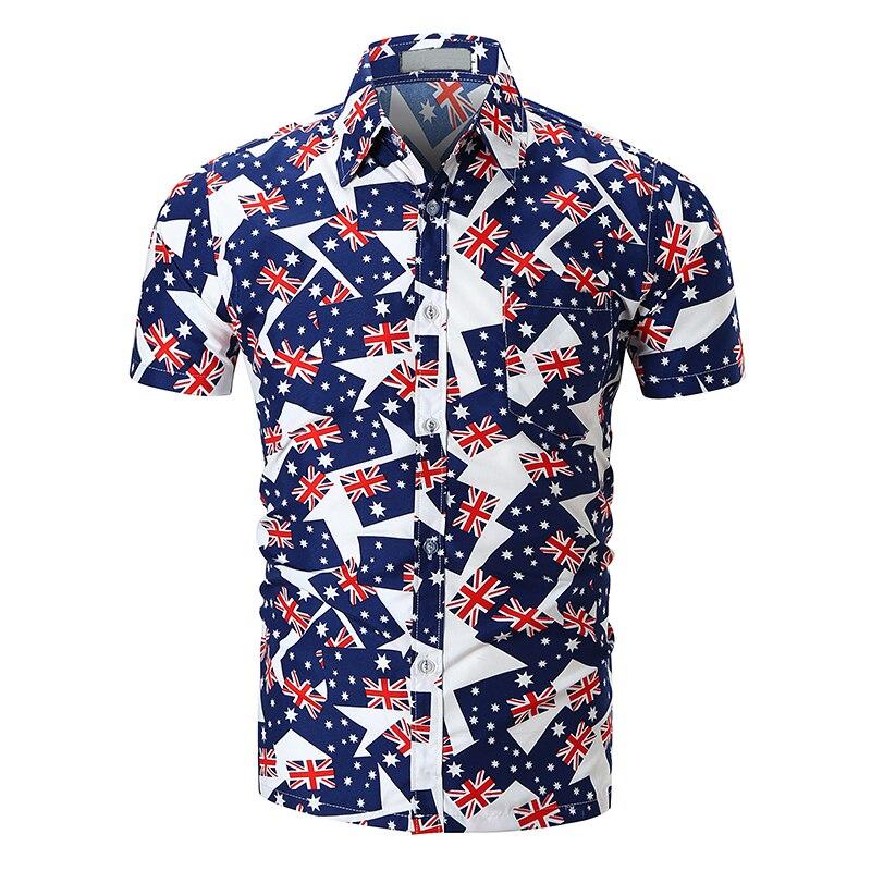 7d5c2b1f228 2019 2018 New Mens Summer Holiday Beachwear Hipster Short Sleeve ...