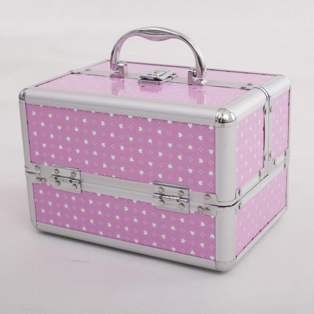 Us 28 69 30 Off Hot Sale Pink Cosmetic Organizer For Girls Jewelry Boxes And Packaging Portable Jewelry Gift Boxes Makeup Storage Box Suitcase In