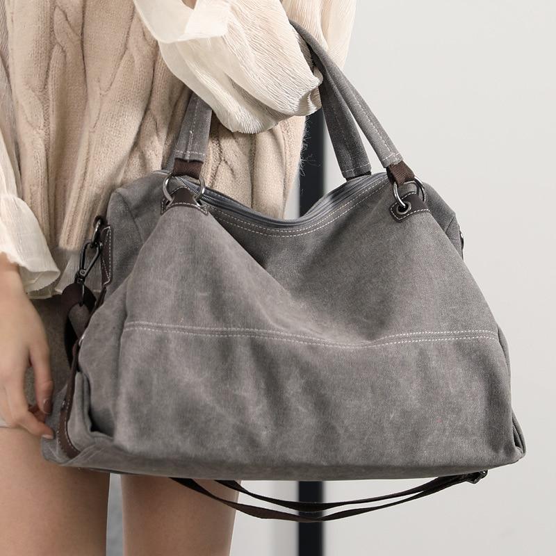 KVKY Canvas Tote Hand Bag Ladies Luxury Handbags Top-handle Bags For Women Designer Crossbody Bag Leisure Large Messenger Bag