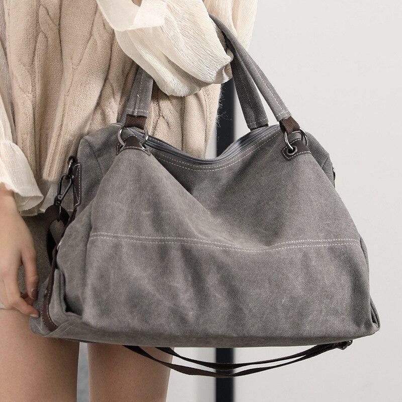 Canvas Tote Bag Ladies Handbags Hand Bags Designer Vintage Crossbody Bag Leisure Large Messenger Bag 2018