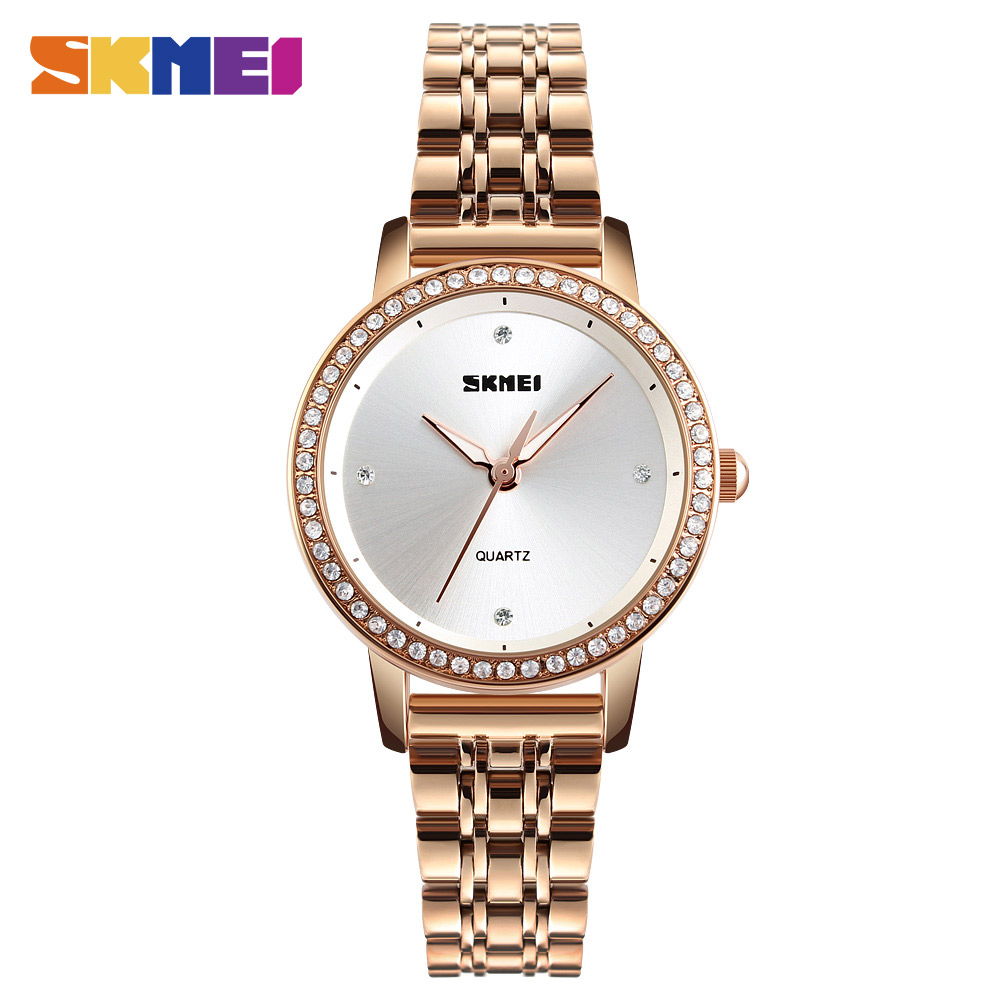 SKMEI Women Watches Fashion Quartz Clock Watch Women Stainless Dress Steel Strap Female Top Brand Luxury Ladies Wristwatch 1311 банда умников банда умников магнитная игра c the b на английском языке page 2 page 5 page 2 page 1 page 4