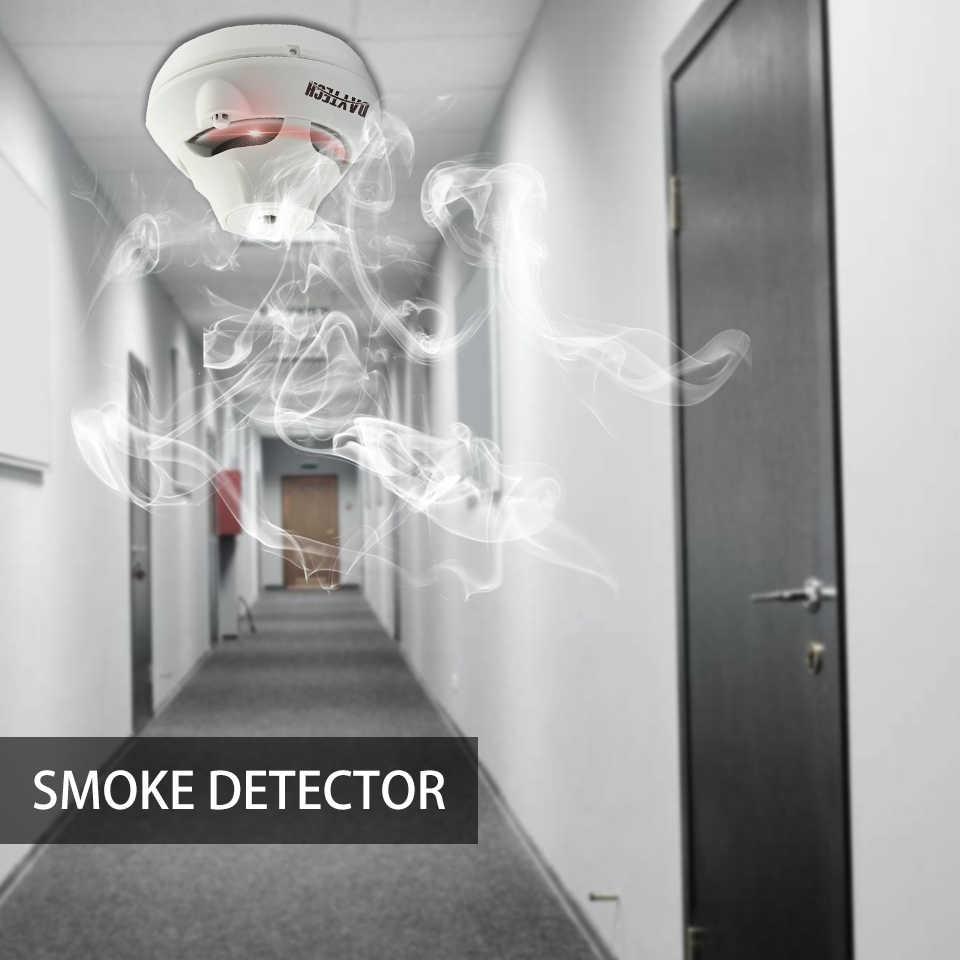 DAYTECH беспроводной пожарный детектор датчик фотоэлектрический детектор дыма 10 лет батарея звук красный свет мигающий индикатор Предупреждение