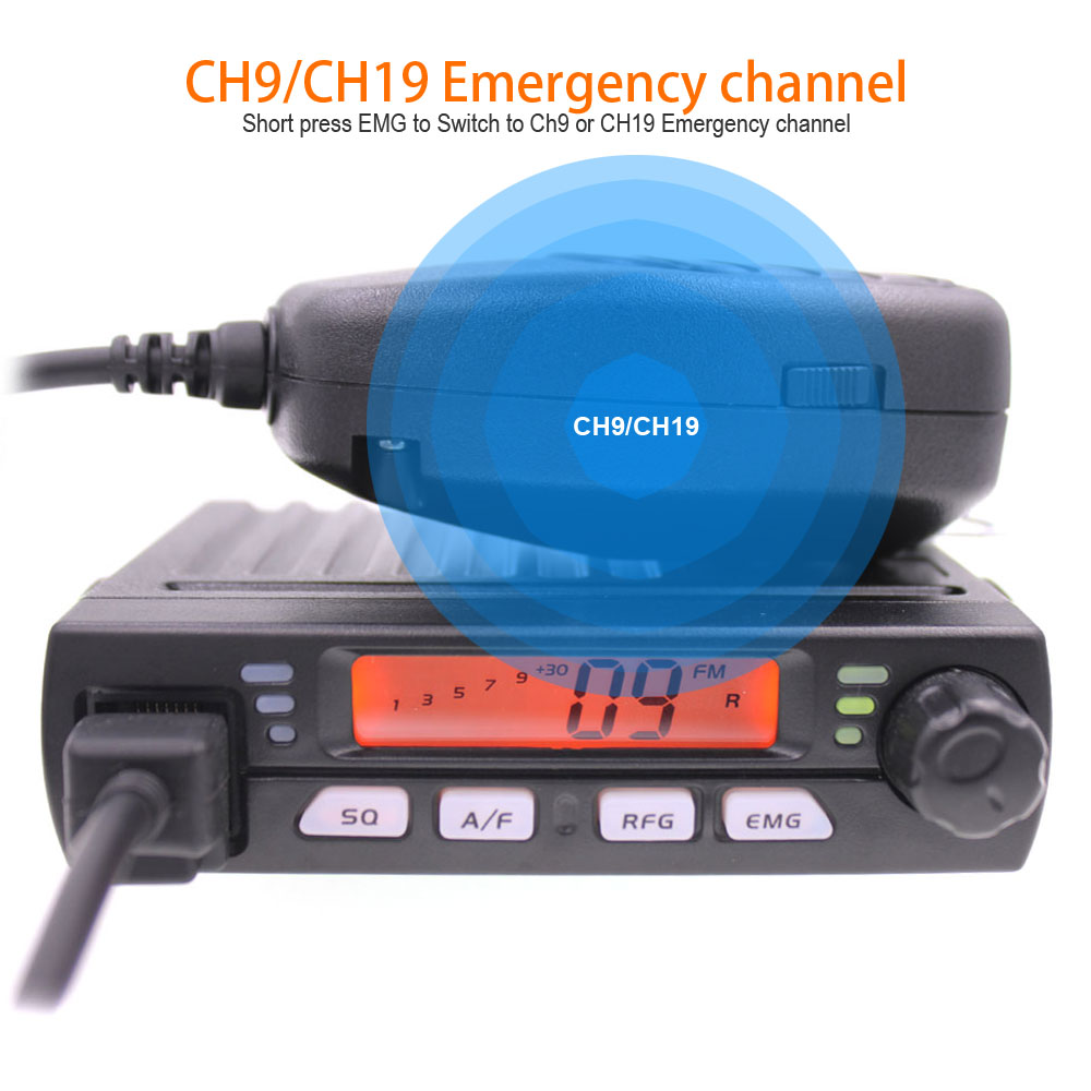 Image 4 - Mini mobile radio CB 40M 25.615  30.105 AR 925 8W 40CH 9/19 emergency channel CB Car Radio Smart Transceiver amateur Compact AM-in Walkie Talkie from Cellphones & Telecommunications