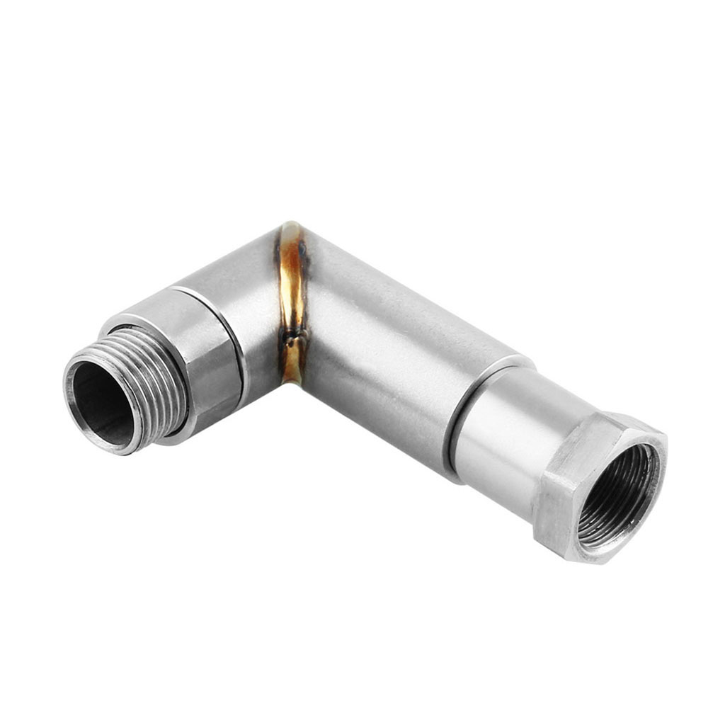 O2 Oxygen Sensor 90 Degree Bung Extension Angled Extender Spacer Adapter M18x1.5 Tp074 Top Watermelons Automobiles Sensors
