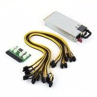 110 240V 750W Mining Power Supply Kit For GPU Open Rig Mining BTC ETH Ethereum HSTNS