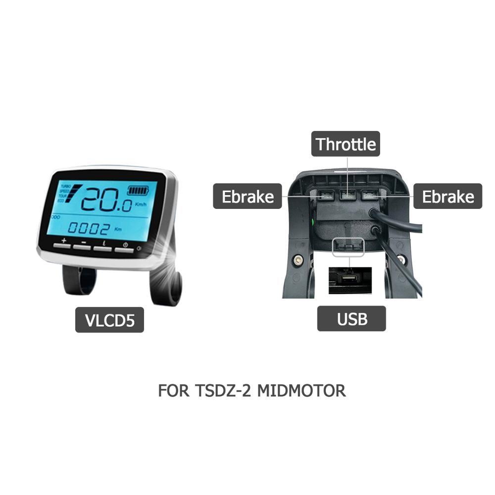 okfeet bicycle display VLCD5 for TONGSHENG TSDZ 2 mid drive motor LCD display ebike conversion kits