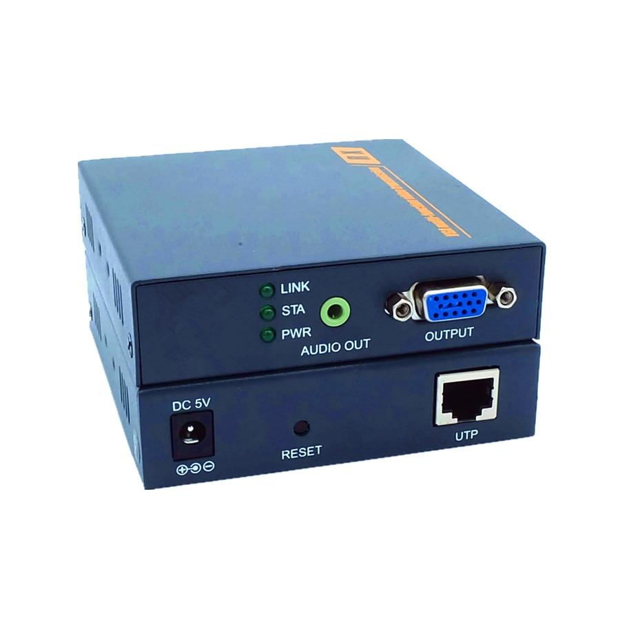 DT206C 660ft Network VGA Over IP Audio Splitter Extender By Ethernet ...