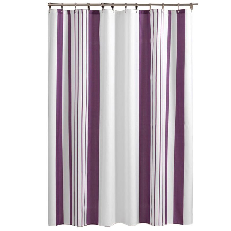 Elegant Purple And White Vertical Striped Bathroom Shower Curtain Polyester  Curtain New In Shower Curtains From Home U0026 Garden On Aliexpress.com |  Alibaba ...