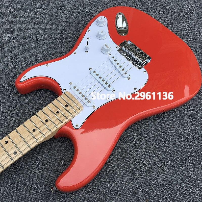 2019 boutique sur mesure, guitare électrique style Alder Body ST, tableau en érable, image réelle, livraison gratuite