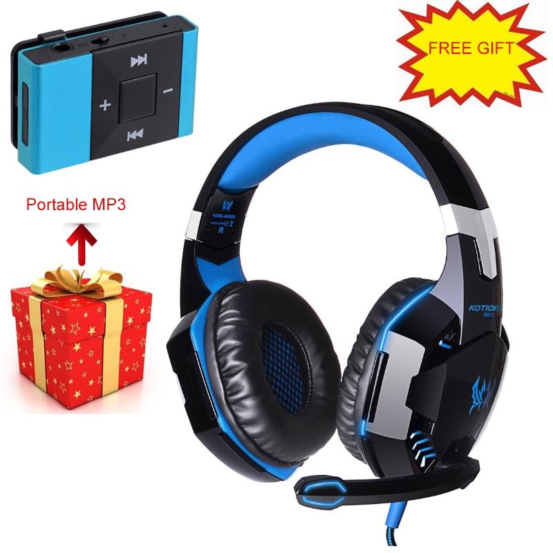 bilder für Jeder G2000 Wired Gaming Kopfhörer 3,5mm Stecker Stirnband Boice Headsets Geräuschunterdrückung Stereo Sound Mikrofon Kopfhörer
