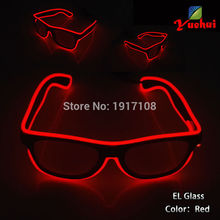 10 Style Flashing Passion EL Glasses Fashion LED Neon Light Up SunGlasses Handmade Rave Party Decorative Bright Glasses