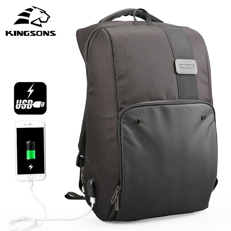 Kingsons New Arrivals Fashion Backpack Male Casual Backpacks for Laptop Men Anti Theft Backpack Mochila Schoolbag for Teenager