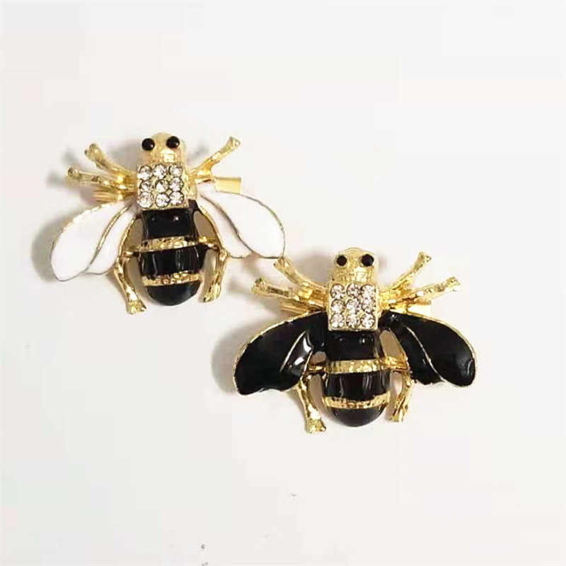 New Fashion Cute Bee Bros Pria Wanita Emas Terbang Serangga Bros Pin Bermutu Tinggi Paduan Berlian Imitasi Pakaian Perhiasan aksesoris