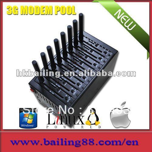 8 cards slot modem pool, 8 ports GPRS Modem Pool(Dual band), 3g modem pool ,bulk sms modem pool,start your marketing here